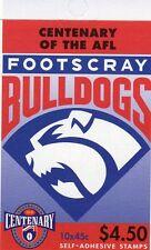1996 AUSTRALIAN STAMP BOOKLET AFL CENTENARY FOOTSCRAY 10 x 45c STAMPS MUH