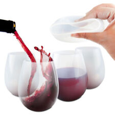 Silicone Drinkware Wine Glasses Unbreakable Stemless Whiskey Beer Cup Glass 1pc