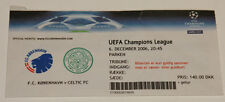 Ticket for collectors CL FC Copenhagen Celtic FC 2006 Denmark Scotland