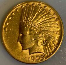 1909-S $10 TEN DOLLARS GOLD Indian Eagle