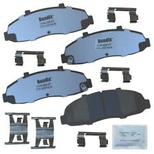 Disc Brake Pad Set-Fleet Metlok Semi-Metallic SDR Disc Brake Pad Front Bendix