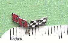 CORVETTE FLAGS  - Hat pin , lapel pin , tie tac . hatpin GIFT BOXED cloisonne jb
