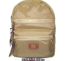 Frye Women's Large Nylon Ivy Backpack Tan Color DB672 New NWT $198