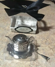 TEA FOR TWO Tea Infuser Stainless Steel by Kate Aspen