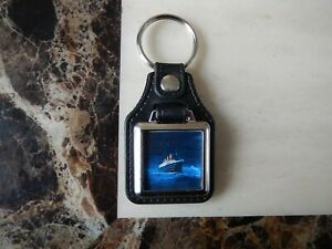 TITANIC METAL & FAUX LEATHER KEY RING (NEW)