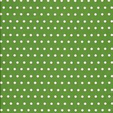 Stoff Baumwolle Leona beschichtet Wachstuch kiwi, weiße Punkte 6mm