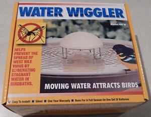 WATER WIGGLER 4WW - ATTRACT BIRDS IN BIRDBATH - KEEPS BUGS & MOSQUITOS AWAY!!