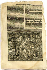 Rare Antique Print-MARY OF BURGUNDY-ACCIDENT-DEATHBED-Doppere-Vorsterman-1531