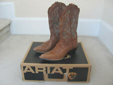 Ariat Heritage Western Timber Women's Brown Leather Western Boots Sz. 6-NIB