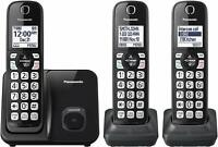 Panasonic KX-TGD513B Expandable Cordless Home Phone with Call Block - 3 Handsets