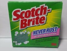 Scotch Brite Never Rust Delicate Duty Soap Pads 1 Box Sealed Damaged 3M