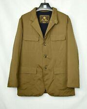 New Loro Piana Blazer Coat Brown 100% Cashmere Lined Jacket Leather M Medium
