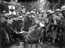 1918 World War 1-Photo Wounded German Prisoners receiving Medical Attention