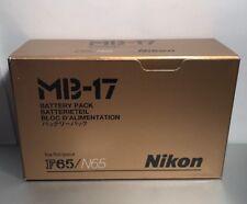 Genuine Nikon MB-17 AA Battery Grip Pack for N65, F65 & U