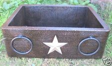 *Farmhouse Kitchen Copper Sink Towel Nickel Star Design Hammered handmade !!