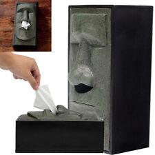 Easter Island Heads Retro Head Facial Tissue Box Holder Cover Nose Dispenser US