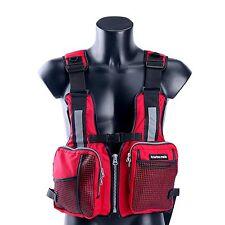 Red Boat Buoyancy Aid Sailing Kayak Fishing Life Jacket Vest Oxford Universal