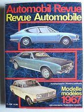 Automobil Revue Katalog - Modelle 1967 Jahresausgabe mit Beilagen