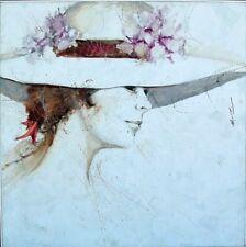 ANTHONY MICHAEL AUTORINO 1927-2015 WOMAN w HAT~NEW HOPE IMPRESSIONIST ARTIST