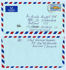 Tanzania 2005 Commercial Airmail Cover to Switzerland Lake Victoria Fish 2385