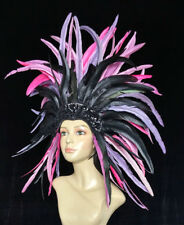 Halloween- Showgirl Samba Carnival-Dance -Headdress Cocktail Feather-MADE IN USA
