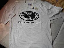 RARE!New York Shaolins WU-TANG CLAN Globe WU-WEAR Denim Co. T-Shirt..RZA,ODB,GZA