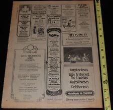 Village Voice 1974 Concert Ad NY Dolls Fleetwood Mac Black Oak Arkansas Genesis