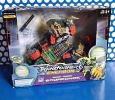Transformers Energon Scorponok 3in1 Ultra Class  Blue Box Rare Electronic Figure