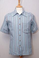 "Mountain Hardwear short sleeve cotton adventure travel outdoor shirt S 36"" slim"