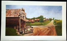 ANTIQUES 30 by 18 inch Wellington Ward Jr. signed numbered print