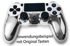 Neu Playstation PS4 Controller Case Hülle Gehäuse Chrome Modding Cover Chrom