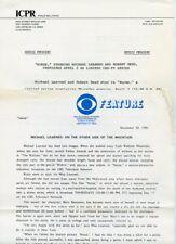 MICHAEL LEARNED ROBERT REED NURSE TV SHOW ORIGINAL 1981 CBS TV PRESS MATERIAL