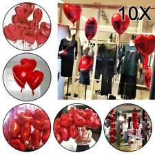 """10PCS Red 18"""" Foil Helium Balloons Heart Decoration Birthday Inflatable Wedding"""