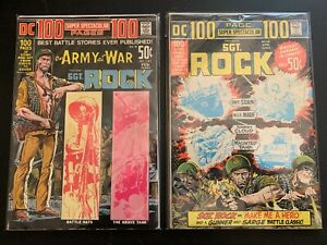 DC 100 PAGE SUPER SPECTACULAR #9 (VG)  & # 16 (VG), Sgt. Rock! NR!