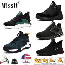 Mens Safety Shoes Steel Toe Sneaker Work Boots Casual Hiking Size Waterproof New