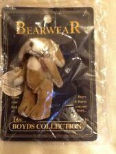 Boyds Bears Bearwear Pin~T.F.Wuzzies~Tucker F. Wuzzie~Tan/Brown w/White Dog~New