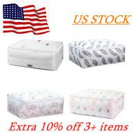 Foldable Storage Bag Clothes Blanket Quilt Translucent Organizer Pouch Box Home