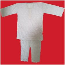 Men African Clothing white on white Traditional Ethnic Youruba DryLace Suit 2pc