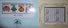 Corée du Sud, lot de timbres neufs dans 3 encarts