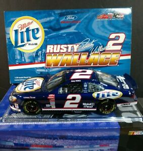 RUSTY WALLACE #2 Miller Lite 2002 Ford Taurus 1:24 ACTION