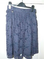 Ladies Navy Lace RIVER ISLAND Skirt Size 8