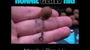 3 Nash Ronnie Claw Rigs Choice of boom material spinner ready made