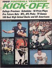 1965 Kick-Off Football Yearbook magazine, Floyd Little, M Garrett,Tommy Nobis GD
