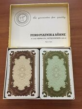 Vintage Ferd Piatnik & Sohne Playing Cards In Original Box Made In Austria