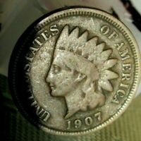 1907 INDIAN HEAD PENNY - AVERAGE CIRCULATED CONDITION - FREE SHIPPING !