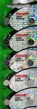 10 Maxell LR41 Button Cell Batteries. AG3 192
