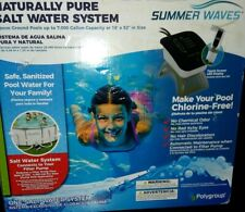 Summer Waves Naturally Pure Salt Water System for Above Ground Pools Up To 7,000