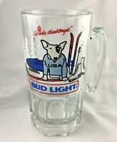 Bud Light Spuds MacKenzie Beer Mug Ski, Snowmobile, Ice Skate USA 1987