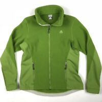 Vintage 90's Nike ACG Full Zip Fleece Jacket Neon Green • Large