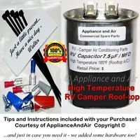 1499-5461 Coleman RV A/C Fan Capacitor 7.5 µF mfd +Troubleshooting, SHIPS TODAY!